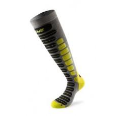 Socks for skiing 2.0 antracite/lime LENZ
