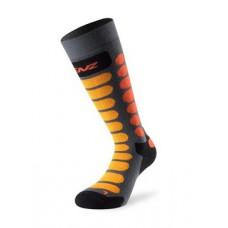 Sock for skiing Junior grey/orange Lenz