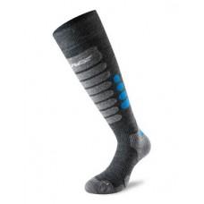 Socks for  skiing 3.0 grey/blue Lenz